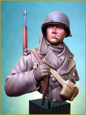 Soldado U.S. en las Ardenas 1944  (Vista 1)