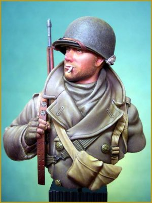 Soldado U.S. en las Ardenas 1944  (Vista 2)