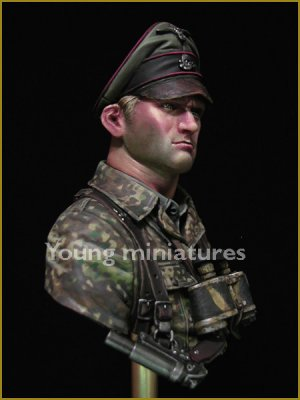 German Waffen SS Officer 1944  (Vista 5)