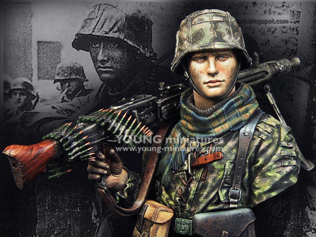 Waffen SS Young Machine Gunner 1944  (Vista 1)