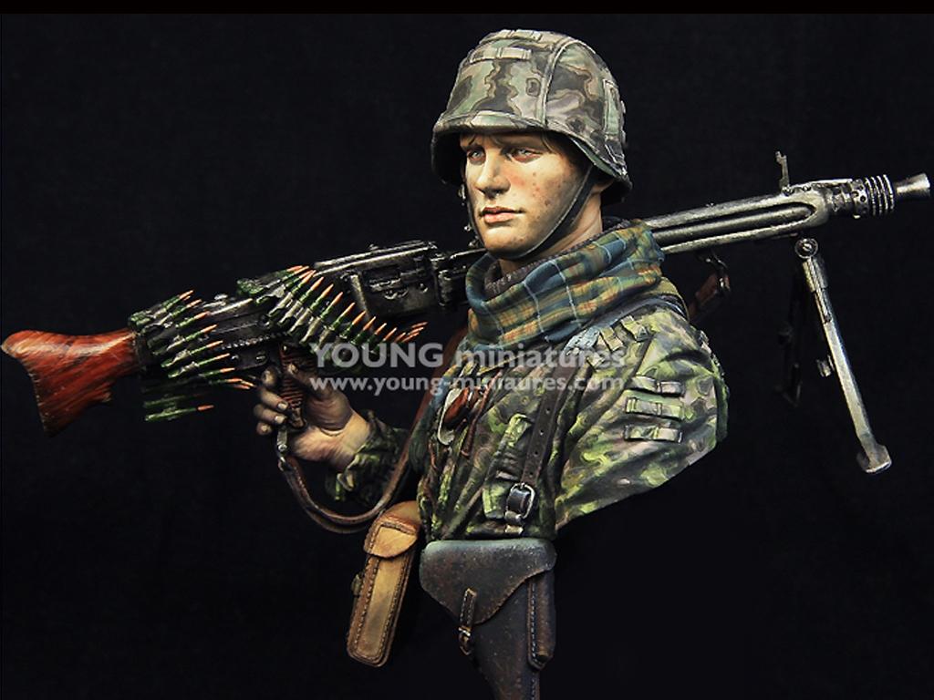 Waffen SS Young Machine Gunner 1944  (Vista 2)