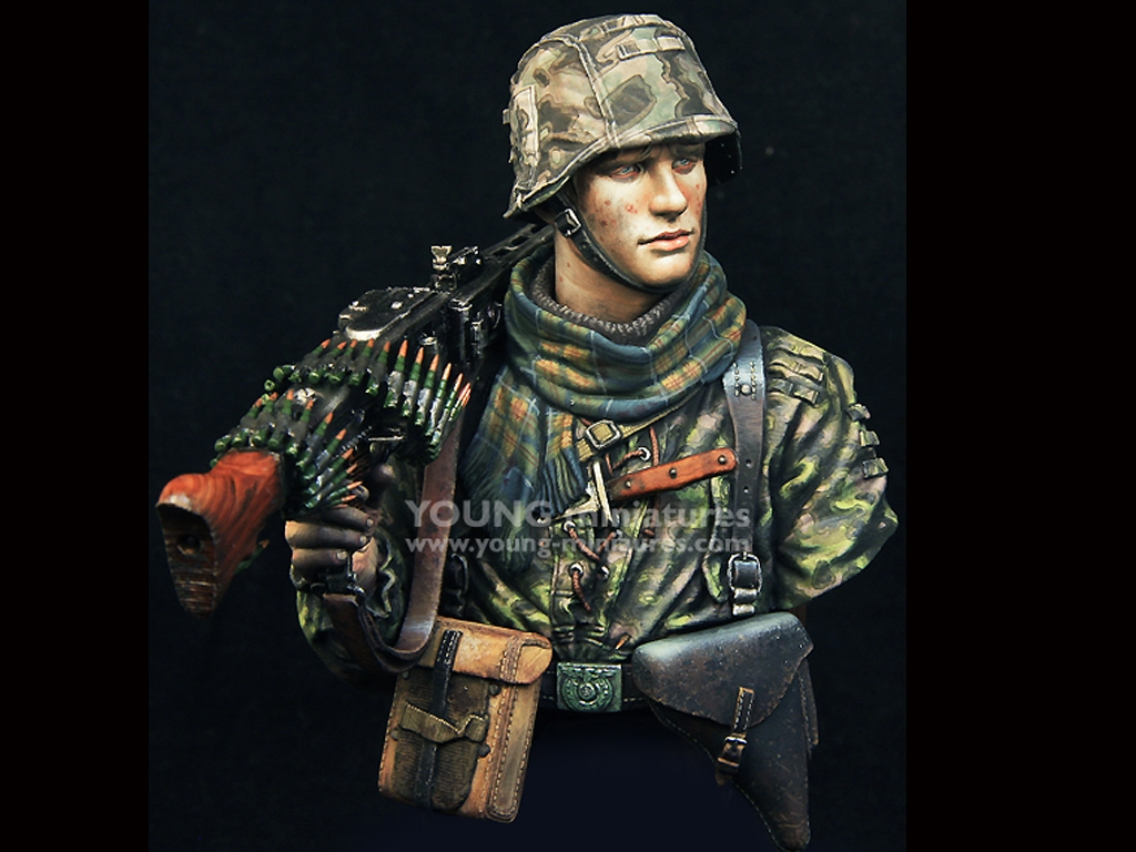 Waffen SS Young Machine Gunner 1944  (Vista 8)