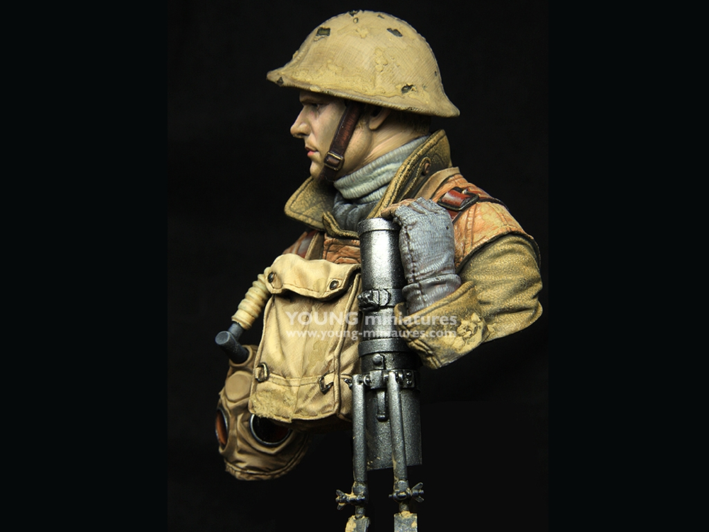 British LEWIS Gunner WWI  (Vista 3)