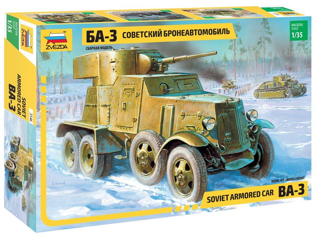 Blindado Ruso BA-3 mod.1934 - Ref.: ZVEZ-3546