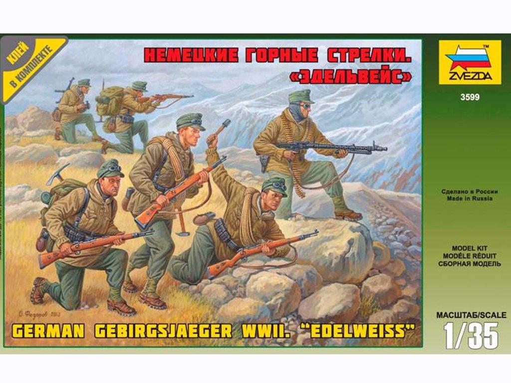 Tropas de montaña alemanas Edelweiss   (Vista 1)