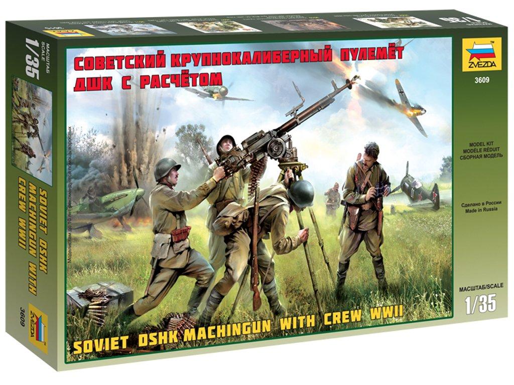 Ametralladora rusa DSHK y dotación  (Vista 1)